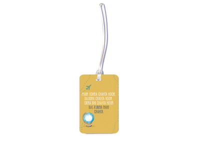 Travel quote luggage tag thumb