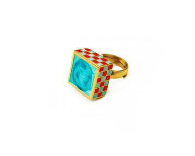 Jali ring turquoise thumb