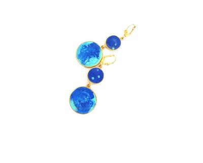 Blue colour carnival earrings thumb