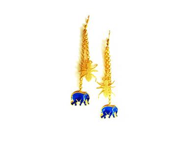 Hathi cheeti earrings thumb
