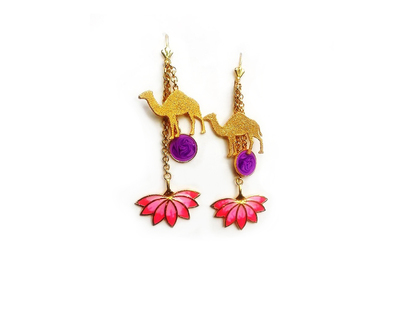 Camel charm earrings thumb