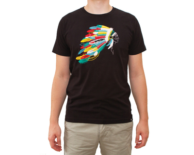 Feather not dot printed tee thumb