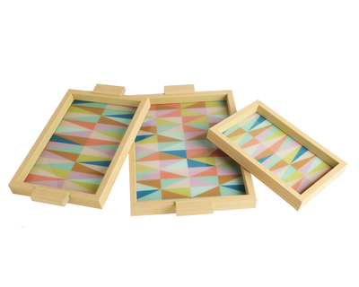 Blue geometric trays thumb