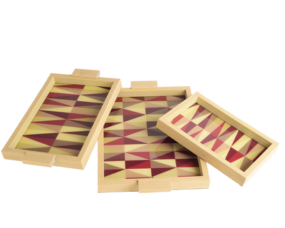 Red geometric trays thumb