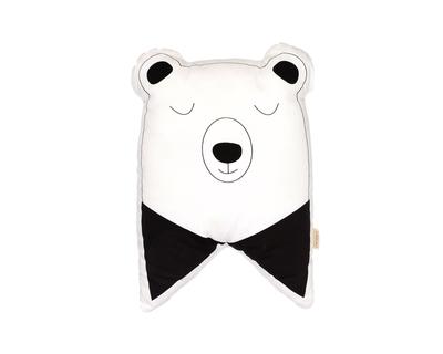 Shape cushions nordic bear black white thumb