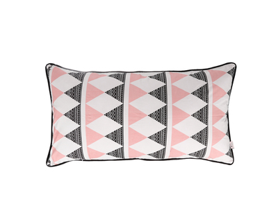 Rectangle cushion aztec triangle dusty rose thumb