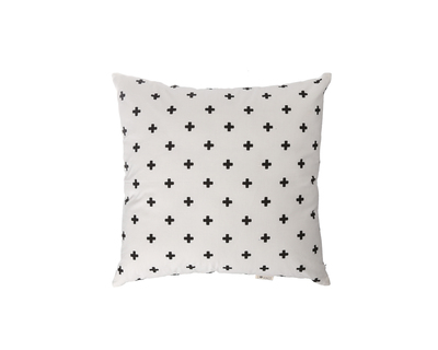 Square cushions nordic cross black white thumb