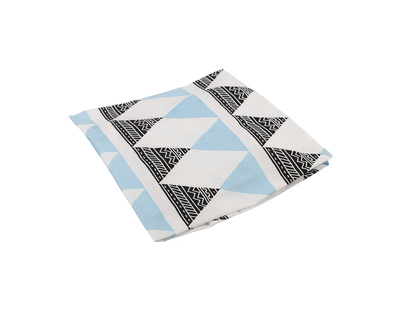 Fitted crib sheet aztec triangle nordic blue thumb