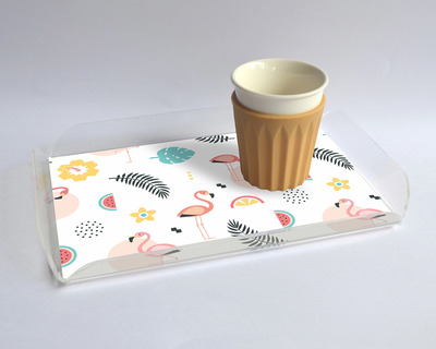 Serving tray small tropical thumb