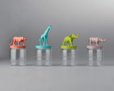 Safari animal storage jars thumb