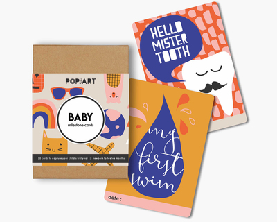 Baby mini milestone cards thumb