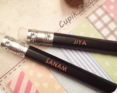 Personalised engraved pencils thumb