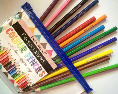 Personalised engraved colour pencils thumb