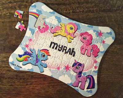 Personalized jigsaw puzzles 185 jp03 ponies thumb