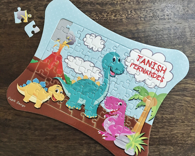 Personalized jigsaw puzzles 185 jp07 dinosaurs thumb
