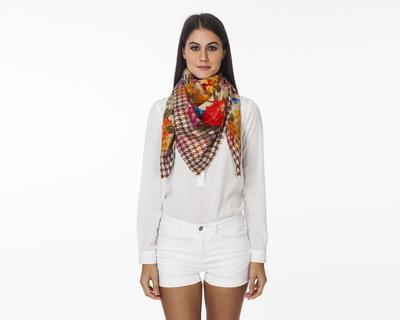 Floral twist scarf thumb