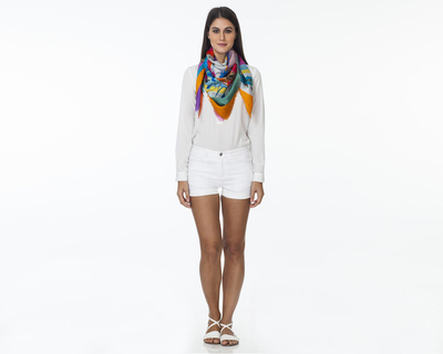 Floral bloom scarf thumb