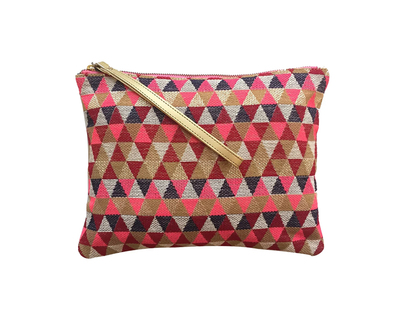 Trikon pouch pink red gold thumb
