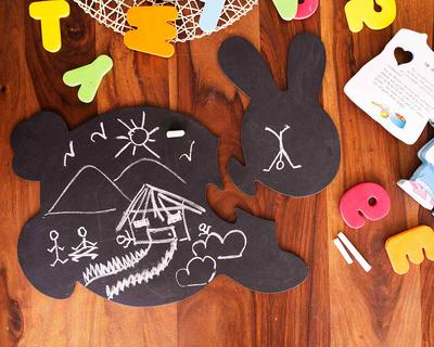 Honey bunny chalkboard puzzle mat thumb