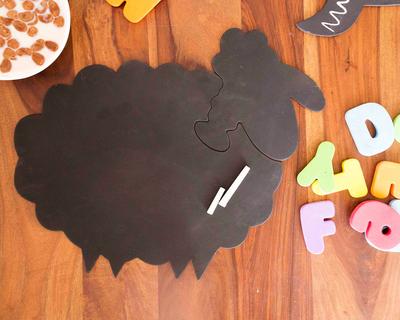Mrs sheep chalkboard puzzle mat thumb
