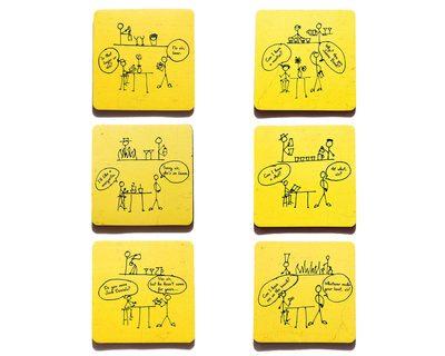 Dumbbartender coasters set of 6 thumb