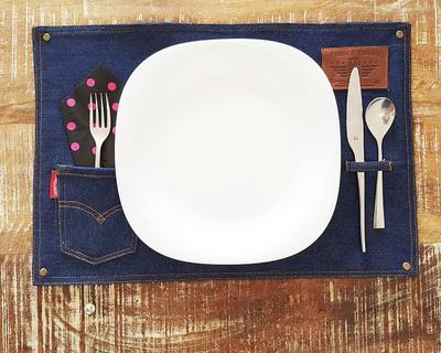 Foodiefit denim placemats set of 2 thumb