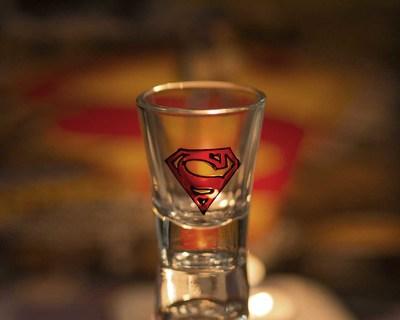 Superman shot glass thumb