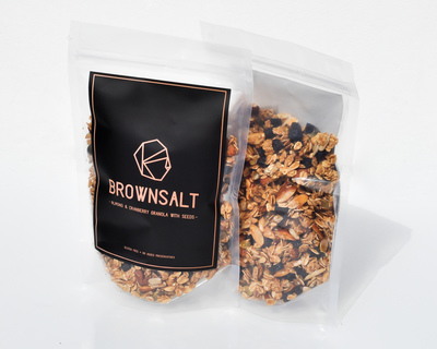Almond and cranberry granola with seeds thumb