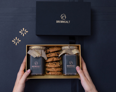 Signature gift box 2 jars and 6 assorted cookies thumb