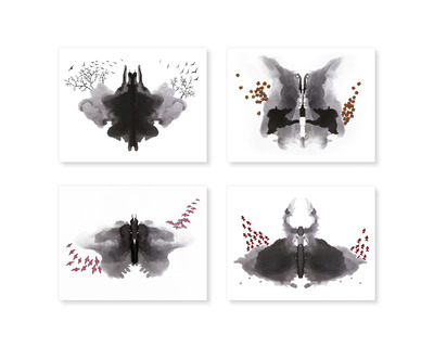 Rorschach ink series set of 4 thumb