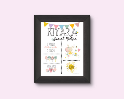 Spring garden birth statistics wall art thumb