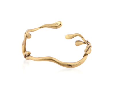 Sprig bangle gold thumb