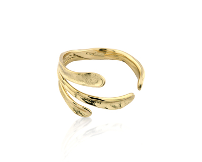 Sirena bangle gold thumb