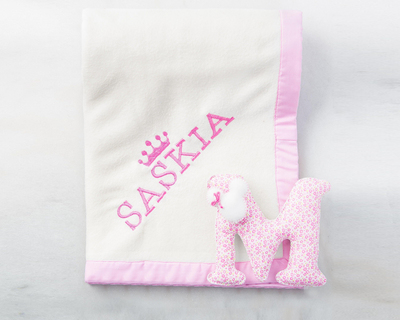 Monogrammed baby girl blanket thumb