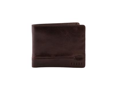 Tanner bi fold wallet brown thumb