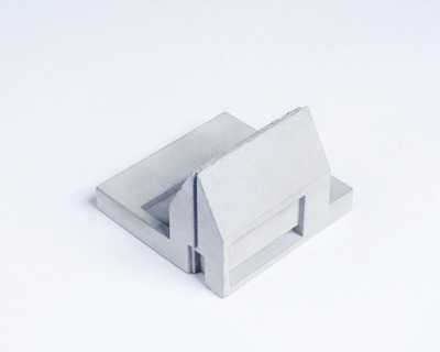 Miniature home concrete knob a thumb
