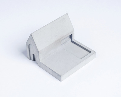 Miniature home concrete knob c thumb