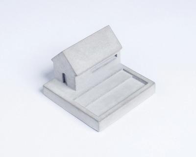 Miniature home concrete knob e thumb