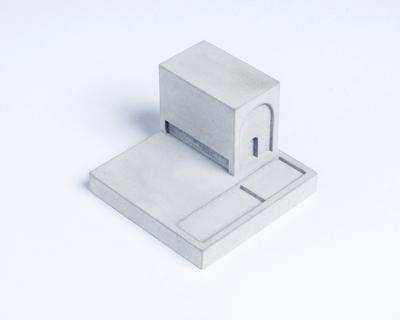 Miniature home concrete knob g thumb