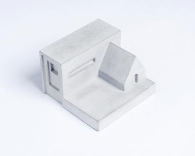 Miniature home concrete knob h thumb