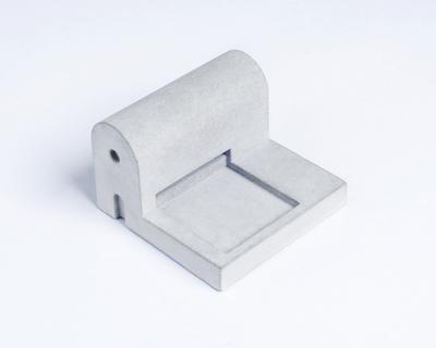 Miniature home concrete knob j thumb