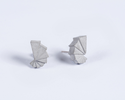 Micro concrete earrings 1 thumb