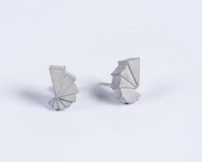 Micro concrete earrings 1 thumb