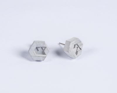 Micro concrete earrings 2 thumb