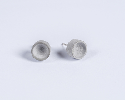 Micro concrete earrings 3 thumb