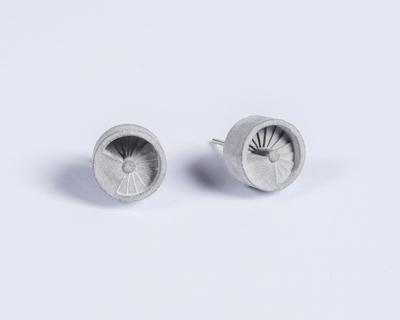 Micro concrete earrings 4 thumb