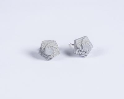 Micro concrete earrings 5 thumb