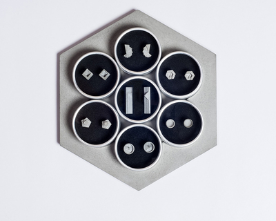 Micro concrete earrings complete set thumb