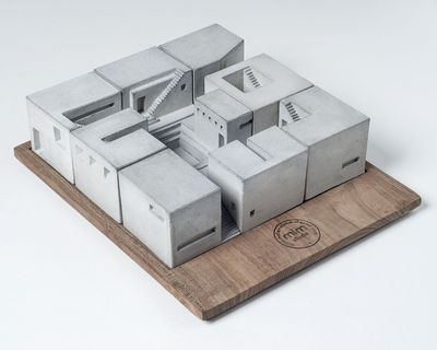 Miniature concrete homes complete set thumb
