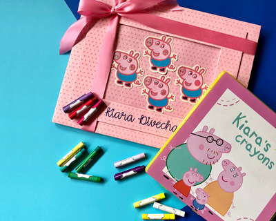 Personalized crayon set art book thumb